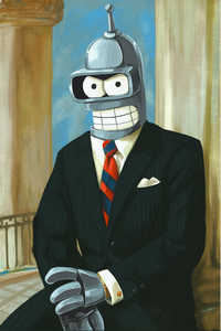 Exquisite painting of Bender